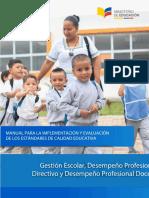 Manual Para La Implementacion de Los Estandares de Calidad Educativa