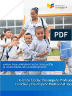 Manual Para La Implementacion de Los Estandares de Calidad Educativa
