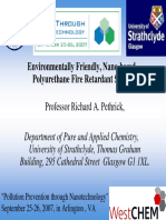 Pethrick (2007) Environmentally Friendly, Nano-based Polyurethane Fire Retardant Systems