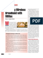 Achieving Wireless Broadband With WiMax