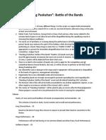Bandang Paskuhan Mechanics and Criteria