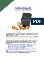 Cómo Probar el Sensor MAF GM (3.1, 3.3, 3.8 modelos 1988 - 1996).docx