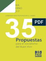 Programa de Gobierno 2013-20171
