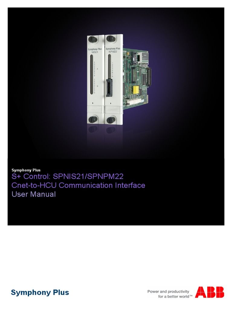 2vaa001455 en s control spnis21 spnpm22 cnet to hcu communication rh scribd com Toro Controller Manuals Lighting Controls