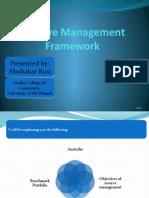 Reserve Management Framework - Presentation