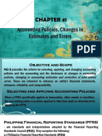 Accounting Policies and Errors