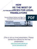 E-RESOURCES for Legal Translations