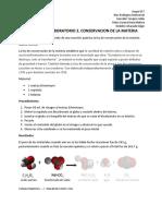 Practica de Laboratorio 2 Conservación de la materia