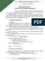 3. Breviar de Calcul - Retea Canalizare