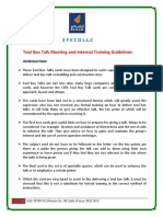 3. Training and Tbt Hand Books