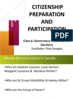 6 Governance in Canad and Elections