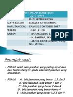 Soaluas Budaya Anti Korupsi 2016-2017