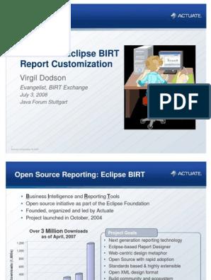 Eclipse BIRT Report | Java Script | Java (Programming Language)