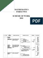 Lesson Plan - Maths Form 2b 2011