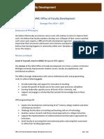 Faculty Development Strategic Plan