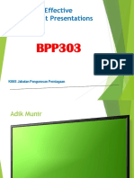 Effective Presentation BPP303