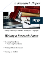 Writing a Research Paper Part 1