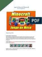 Manual Juego de Mesa de Minecraft