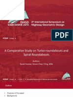 A Comparative Study on Turbo-roundabouts and Spiral Roundabouts