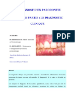 Le Diagnostic en Parodontie (LE DIAGNOSTIC Clinique)