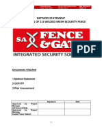 Permanent Fence Method Statement Rev 1 2
