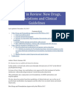 2017 in Review New Drugs, Formulations and Clinical Guidelines