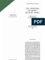 Paul-Dominique Dognin-Les « Sentiers Escarpés » de Karl Marx. 1-Les Éditions Du Cerf (1977)