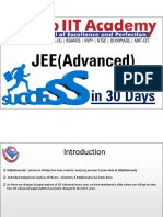 JEE Advanced - Succes in 30 Days