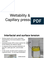 Wettability and Capillary Pressure