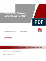 Difference Bwteen LTE TDD and LTE TDD