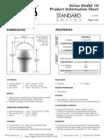 Airius Model 10 - Data Sheet - 2015