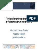 Tecnicas y Herramientas de Pronostico de Fallos en Mantenimiento Predictivo.2007