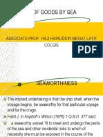 Seaworthiness and Reasoanable Dispacth