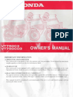 Honda VT750CD ACE Operators Manual