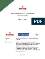 Edelweiss Kwalityltd May30 2017