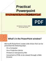 Ms Powerpoint Training 1