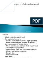 Statistical Issues in Clinical Research - An Overview