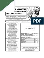 Boletín Oficial de Misiones del 4 de enero de 2018
