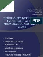 Identificarea Dificultăților Emoționale La Copil Și Modalități de Abordare În Clasă