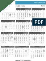 Islamic Calendar 2018 - Hijri Calendar 2018 Events Holidays _ IslamicFinder