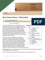 Basic Sonata Theory a Dissertation
