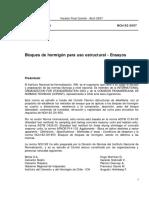 NCh 182 of 2007 Bloques de Hormigón Para Uso Estructural