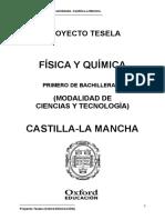 Programacion Tesela Fisica y Quimica 1 BACH Castilla La Mancha