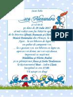 HMI63 Teodorescu Anca Daniela Invitatie Strumfi Party