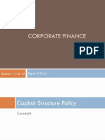 Corp Fin_Session 11 & 12_Capital Structure