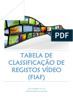 Tabela de Classificação Registos Vídeo