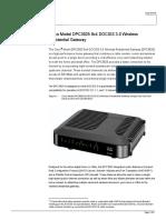 Cisco Gateway DPC3825 Data Sheet
