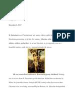 saint project essay