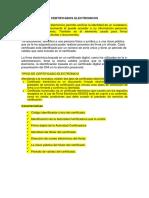 Certificados Electronicos y Firmas Digitales