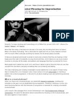 Musical Phrasing for Jazz Improvisation _ Jazzadvice